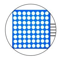 MAX7219 8x8 LED Matrix Module - 10 Pack