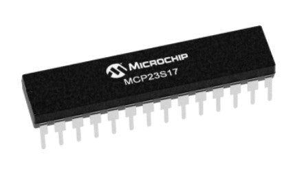 Microchip MCP23S17 16-bit SPI Port Expander ICs from PMD Way with free delivery worldwide