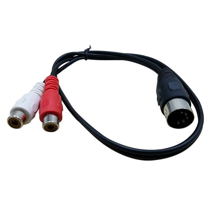 Useful DIN Plug to Twin RCA Sockets Cable from PMD Way with free delivery worldwide