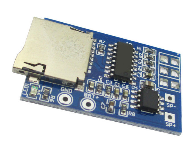 Great value Mono MP3 Decoder Board with 2W Amplifier Module in packs of ten from PMD Way with free delivery, worldwide