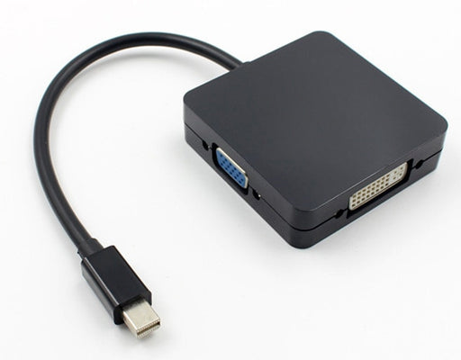 Mini DisplayPort Plug to HDMI VGA and DVI Socket Adaptor
