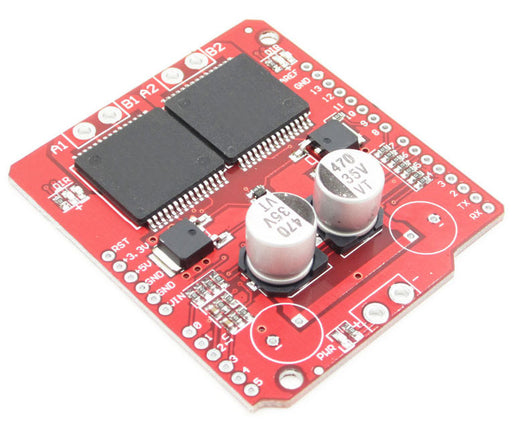 High current motor control with the Monster Moto 30A VNH2SP30  Motor Shield for Arduino from PMD Way with free delivery, worldwide