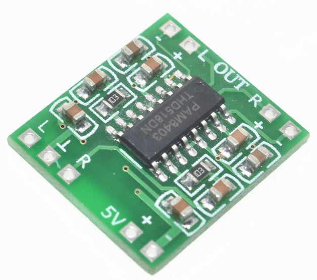 Great value Mini Amplifier Breakout Boards 2 x 3W Class D PAM8403 - in packs of five from PMD Way with free delivery worldwide