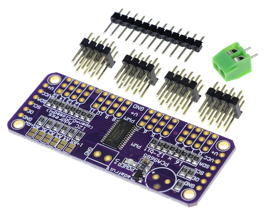 Control servos or LEDs with the PCA9685 16 Channel 12-Bit PWM Servo Driver Breakout Kit from PMD Way with free delivery worldwide