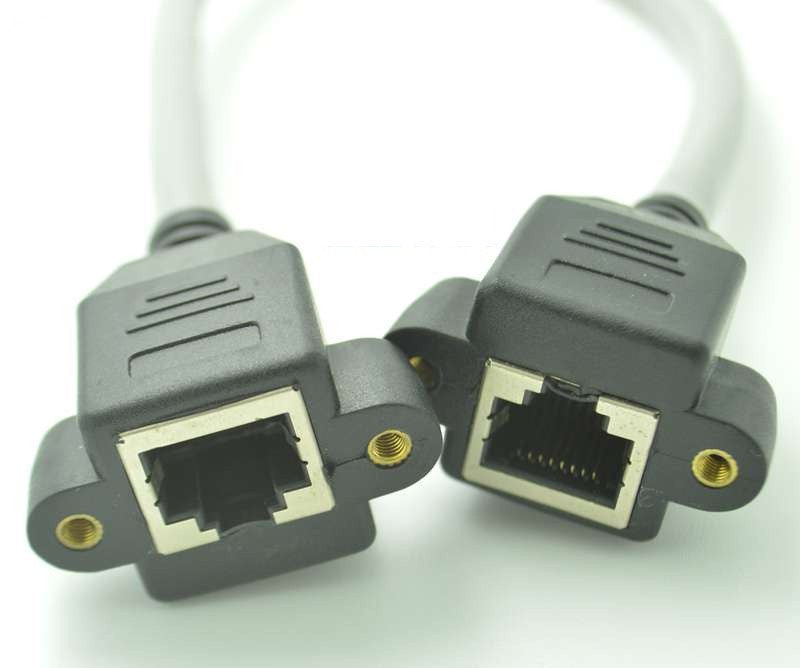 Useful Panel Mount RJ45 Cat5e Cat6 Cat7 Extension Cable from PMD Way with free delivery worldwide