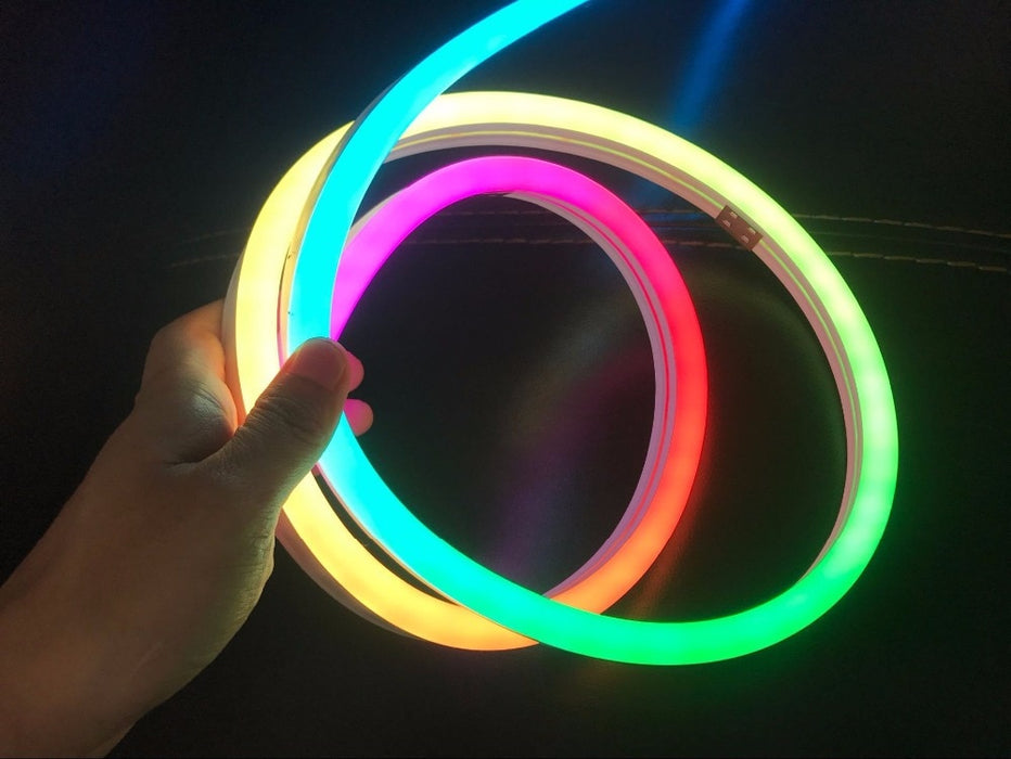 RGB Neon-like LED Flex Strip with Silicone Tube - 5m Roll from PMD Way with free delivery worldwide