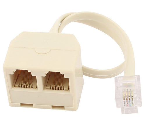 Connect two telephones to one socket with the RJ11 6P4C Outlet Splitter from PMD Way with free delivery worldwide