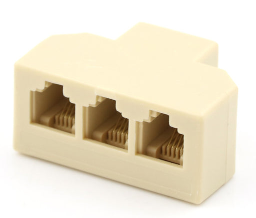 Connect three telephones to one socket with the RJ11 6P4C Triple Outlet Splitter from PMD Way with free delivery worldwide