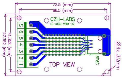 Useful RJ11 RJ12 6P6C Right Angle Breakout Board from PMD Way with free delivery worldwide
