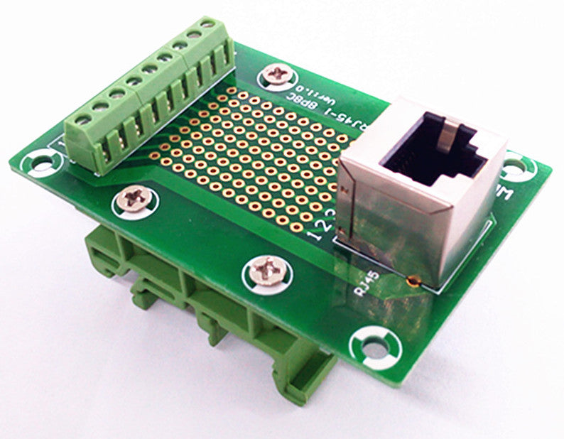 Useful RJ45 8P8C 1-Way Buss DIN Rail Terminal Block Breakout Board from PMD Way with free delivery worldwide