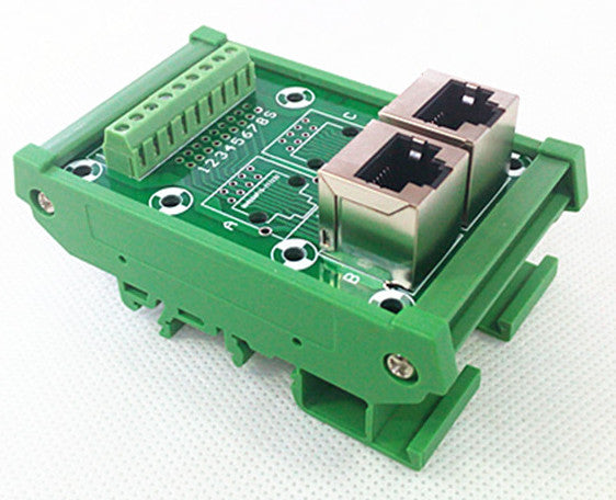 Useful RJ45 8P8C 2-Way Buss DIN Rail Terminal Block Breakout Board from PMD Way with free delivery worldwide