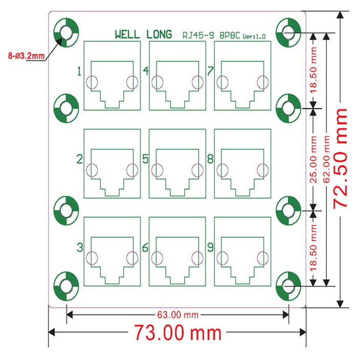 Useful RJ45 8P8C 9-Way Buss DIN Rail Breakout Board from PMD Way with free delivery worldwide