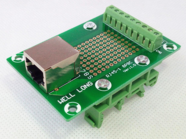 Useful RJ45 8P8C Horizontal 1-Way Buss DIN Rail Terminal Block Breakout Board from PMD Way with free delivery worldwide