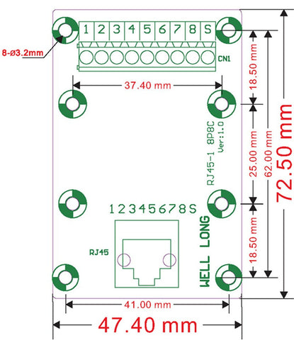 Useful RJ45 8P8C Horizontal 1-Way Buss Terminal Block Breakout Board from PMD Way with free delivery worldwide