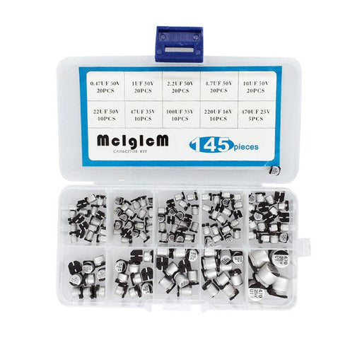 Great value SMD Aluminum Electrolytic Capacitors Assortment Box Kit- 145 pieces from PMD Way with free delivery worldwide