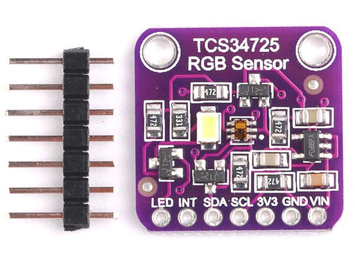 RGB Color Sensor with IR filter and White LED - TCS34725 from PMD Way with free delivery worldwide