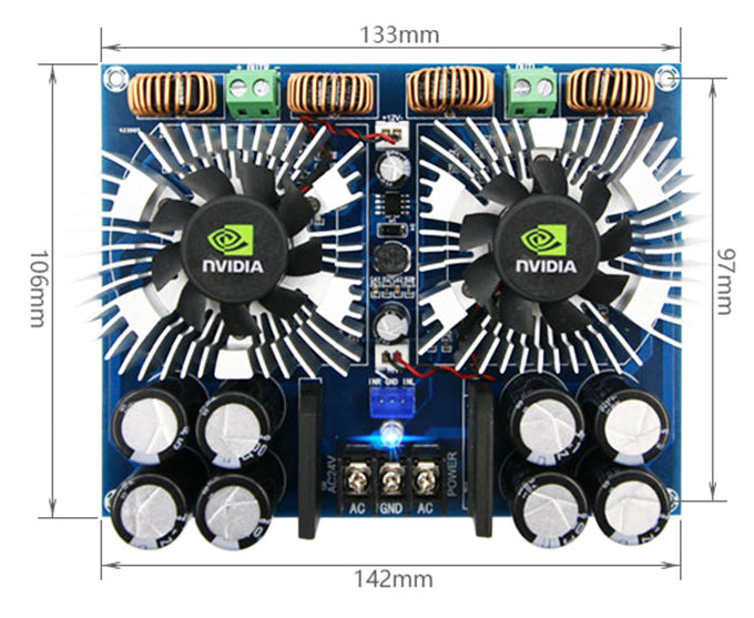 Use concert or PA speakers with the TDA8954TH 420W x 2 High Power Amplifier Board from PMD Way with free delivery worldwide