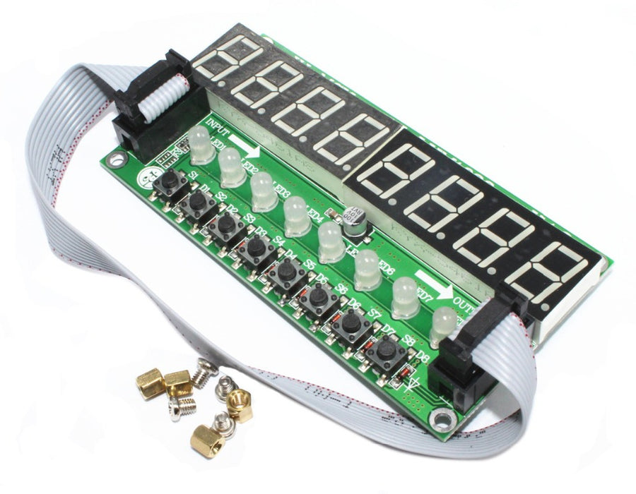 TM1638 Numeric Display LED Input Board with 8 digits, 8 bicolor LEDs and 8 buttons from PMD Way with free delivery worldwide
