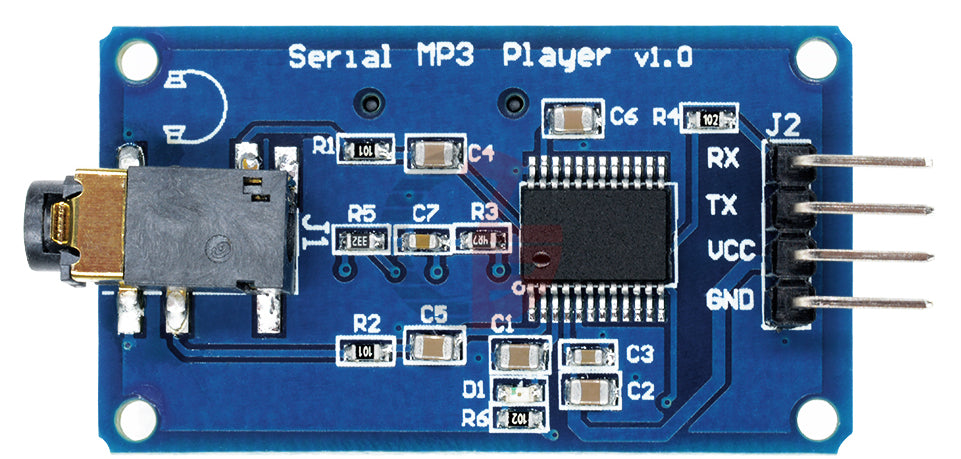 Add MP3 playback to Arduino, Raspberry Pi and more with the UART Control Serial MP3 Music Player Module from PMD Way with free delivery, worldwide