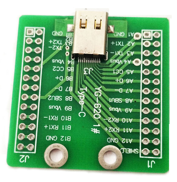 Useful USB 3.1 Type C Socket Breakout PCB from PMD Way with free delivery worldwide