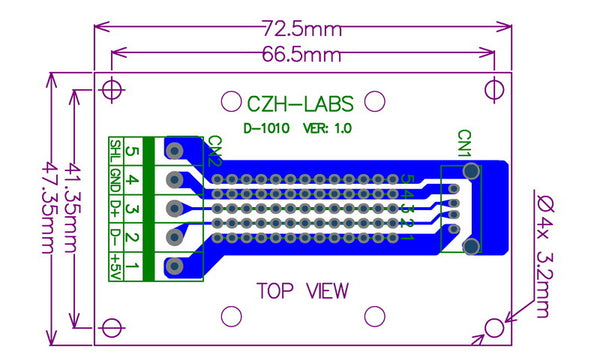 Useful USB Type A Socket Terminal Block Board from PMD Way with free delivery worldwide