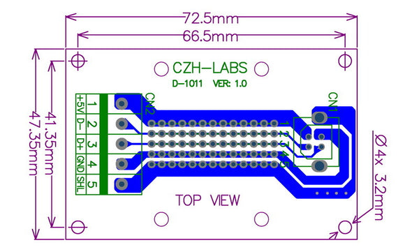 Useful USB Type B Socket Terminal Block Board from PMD Way with free delivery worldwide
