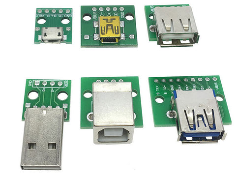 USB PCB breakout boards of all types in packs of ten from PMD Way with free delivery worldwide