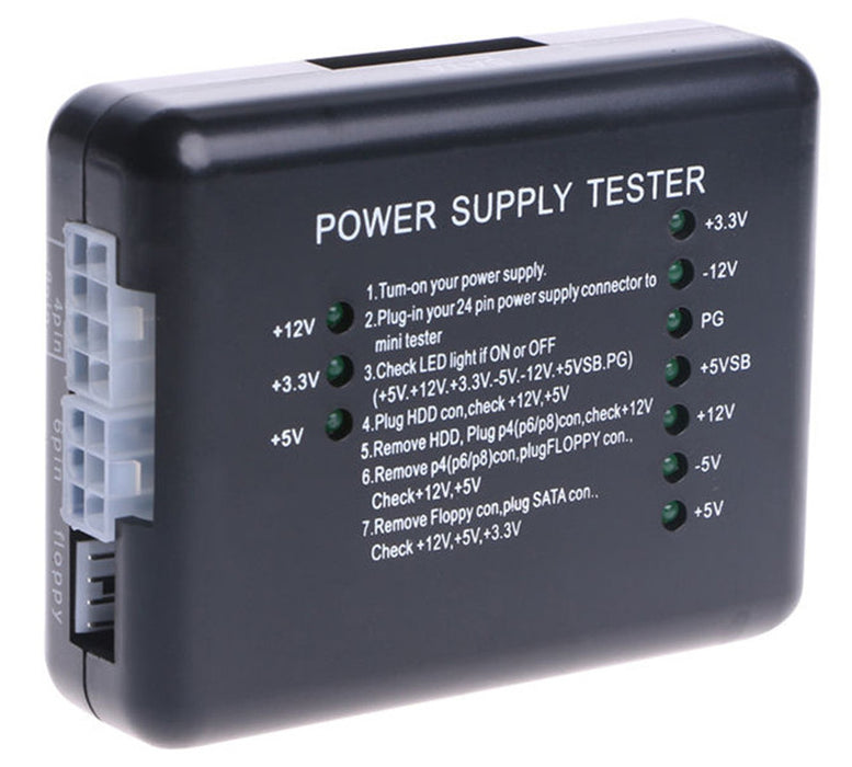 Check ATX power supplies with this Value ATX Power Supply Test Module from PMD Way with free delivery worldwide