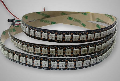 WS2812B RGB LED Strip - 144 LED/m - 1m Roll - Black PCB from PMD Way with free delivery worldwide