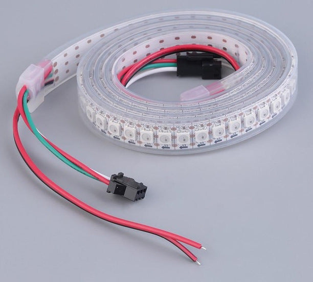 WS2812B RGB LED Strip - 144 LED/m - 1m Roll - White PCB - IP65 from PMD Way with free delivery worldwide