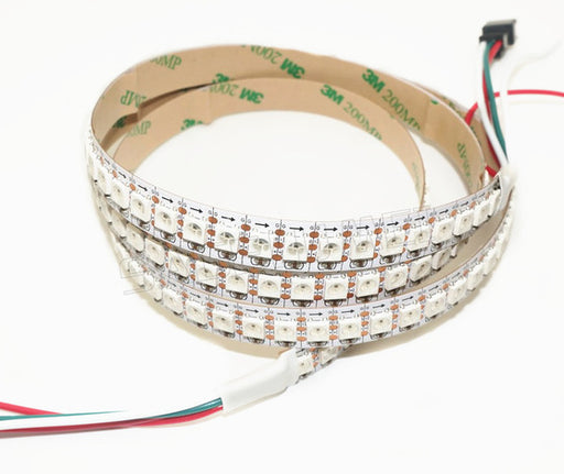 WS2812B RGB LED Strip - 144 LED/m - 1m Roll - White PCB from PMD Way with free delivery worldwide