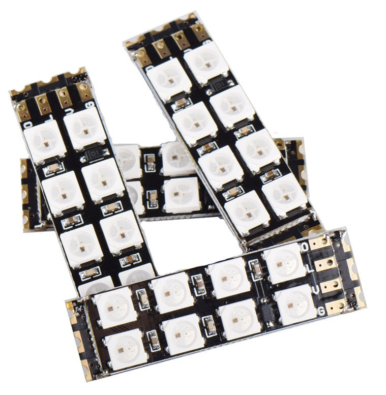 WS2812B Square Eight LED Boards in packs of four from PMD Way with free delivery worldwide