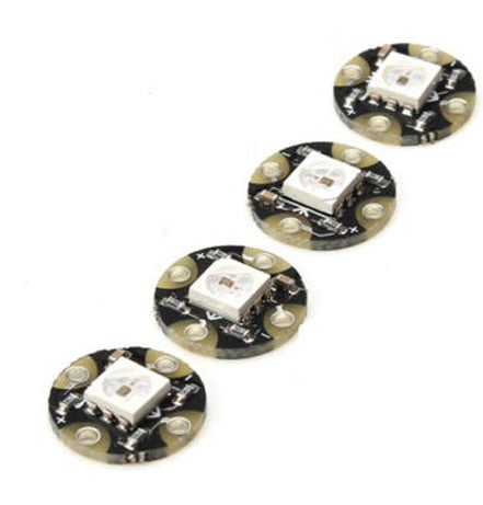 Wearable WS2812B RGB LED Boards in packs of four from PMD Way with free delivery worldwide