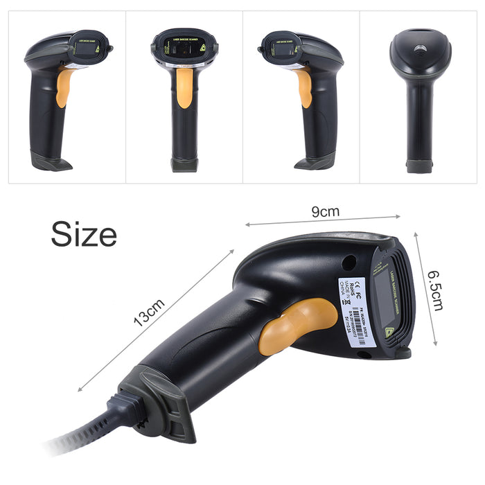 Great value Wired USB Laser Barcode and QR Scanner from PMD Way with free delivery, worldwide