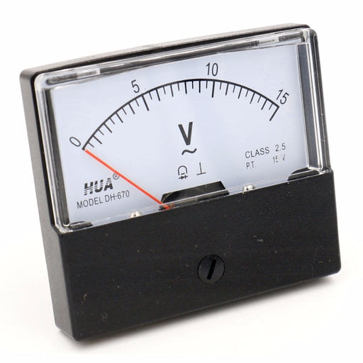 DH-670 Analog AC 15V Voltmeter from PMD Way with free delivery worldwide