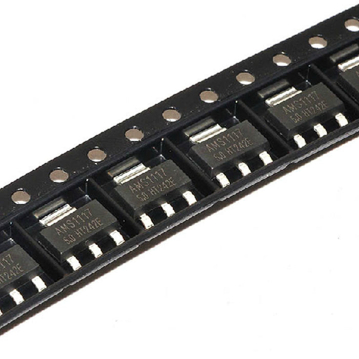AMS1117-5.0 SOT-223 5V SMD Linear Regulator - 100 Pack from PMD Way with free delivery worldwide