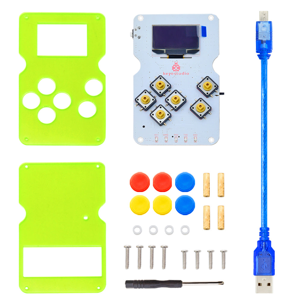 Write and play your own games or others with the Arduboy Arduino Compatible Handheld Gaming Kit from PMD Way with free delivery worldwide