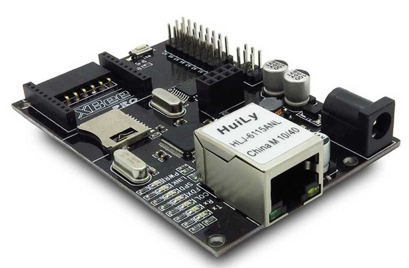 Compact Arduino Compatible with onboard W5100 Ethernet, micrSD socket and power-over-Ethernet from PMD Way with free delivery, worldwide