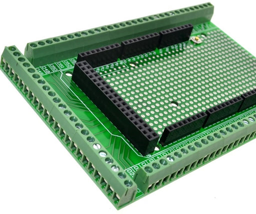 Rapid prototyping made easy with the Double-sided Terminal Block Shield Kit for Arduino Mega R3 from PMD Way with free delivery, worldwide