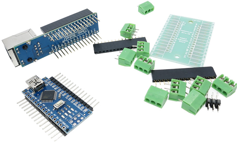 Arduino Nano, Ethernet, and terminal shield kit from PMD Way with free delivery, worldwide