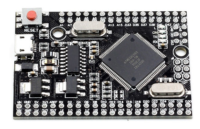 Build compact Arduino-mega compatible projects using the Arduino Pro ATmega2560-16AU Development Board with micro USB from PMD Way with free delivery worldwide