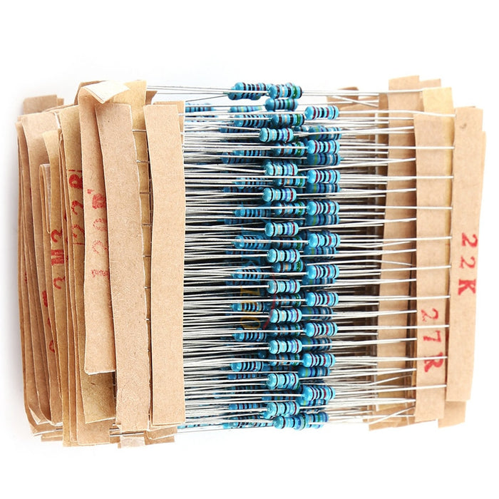 Assorted 1/4W Metal Film Resistor Pack - 2600 Pieces from PMD Way with free delivery worldwide
