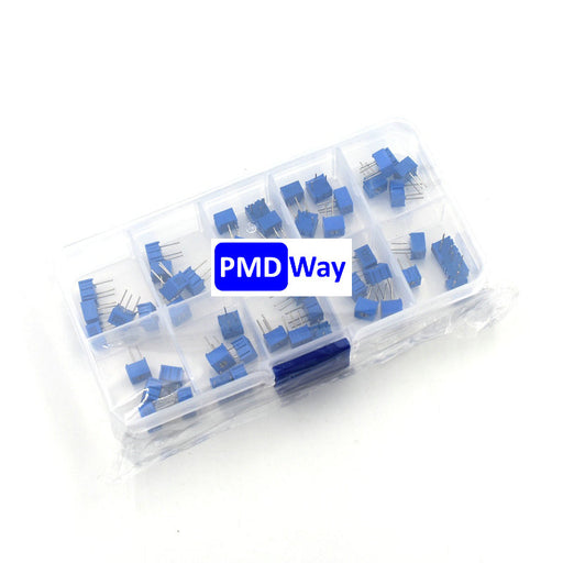 Assorted Horizontal 3362P Trimpot Kit - 50 Pieces from PMD Way with free delivery worldwide