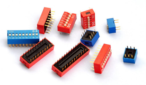 Assorted Through Hole DIP Switch Kit - 2 to 12 Way - 30 Pieces from PMD Way with free delivery worldwide