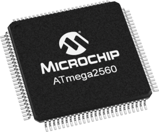 Microchip ATmega2560-16AU LQFP-100 Microcontroller - Ten Pack from PMD Way with free delivery, worldwide