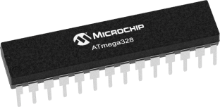 Microchip ATmega328P-PU DIP-28 Microcontroller - Ten Pack from PMD Way with free delivery, worldwide
