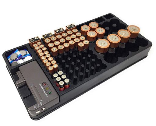 Battery Storage Organiser with Tester from PMD Way with free delivery worldwide
