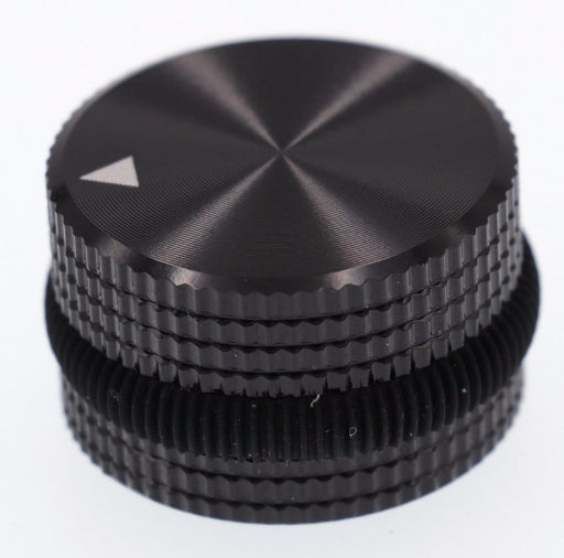 Solid Aluminium Potentiometer Knob 25x15.5mm - Black Ring from PMD Way with free delivery worldwide