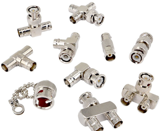 Assorted BNC Connector Adaptor Kit - 10 Pieces from PMD Way with free delivery worldwide