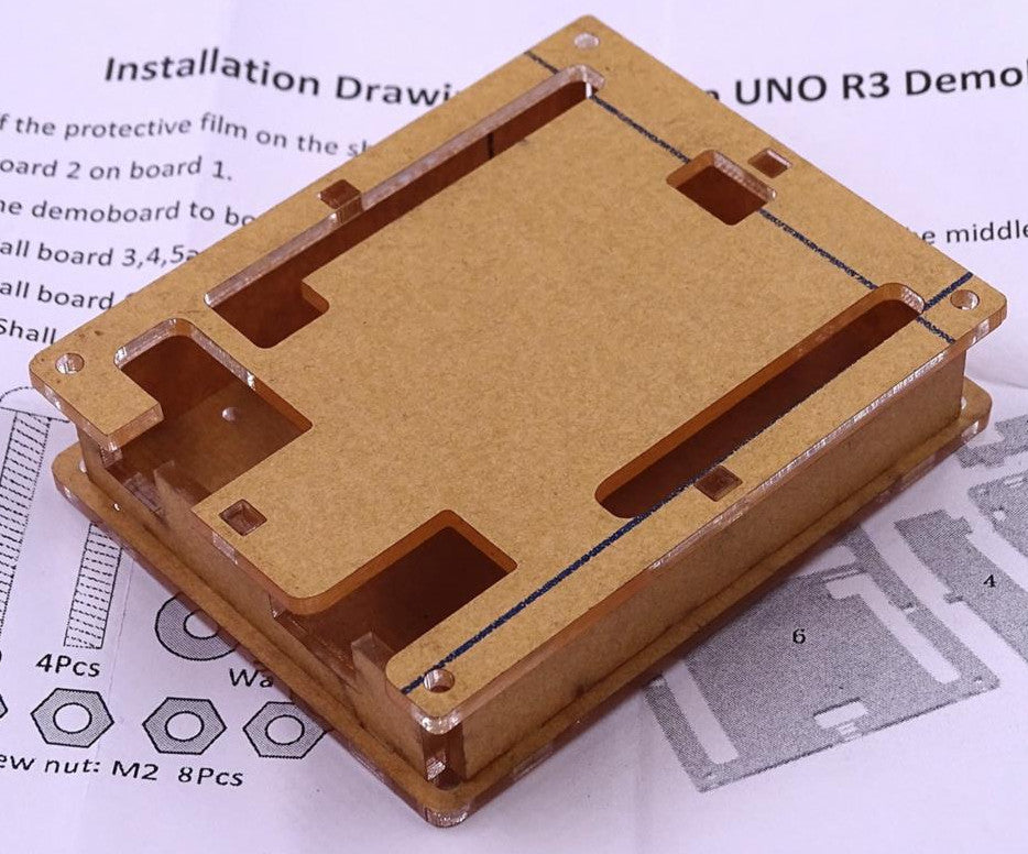 Great value Clear Acrylic Enclosures for Arduino Uno R3 in packs of ten from PMD Way with free delivery, worldwide